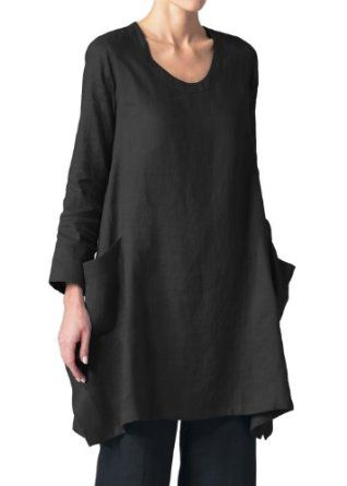 Vivid Linen Women's Long Sleeve Top: