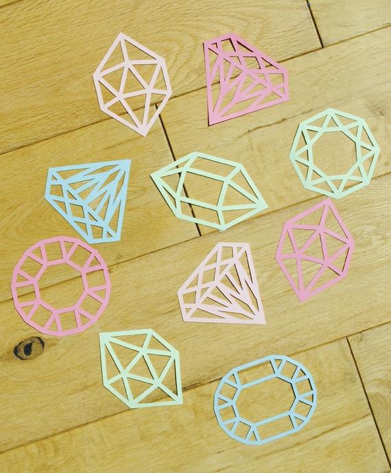 Paper-cut gems in progress!