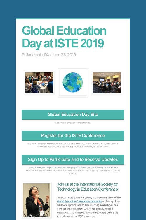 Global Education Day at ISTE 2019 | The Global Education
