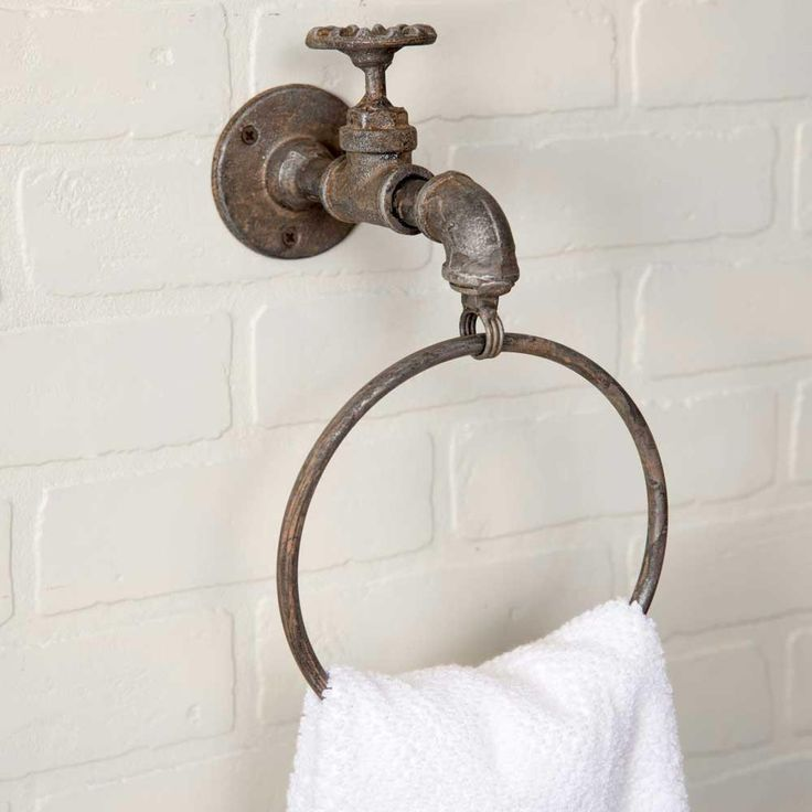 Water Spigot Towel Ring Set