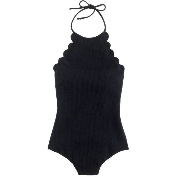 J.Crew Marysia Mott Maillot One-Piece Swimsuit ($425) ❤ liked on Polyvore featuring swimwear, one-piece swimsuits, low back one piece swimsuit, one piece bathing suits, one piece tank swimsuit, halter bathing suit and swim wear