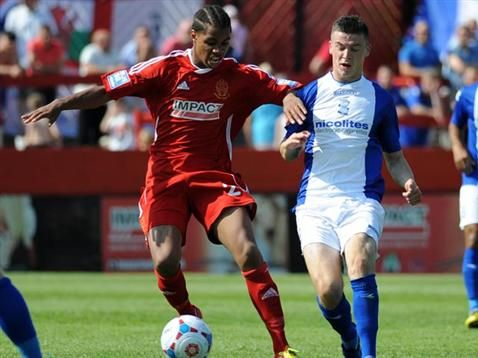 Callum Reilly in action during pre-season. July 2013. #BCFC