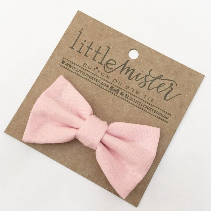 Blush Pink Baby & Toddler Bow Tie