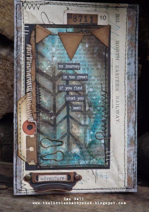 mixed media collage by Kaz Hall via Marjie Kemper's Tuesday's Tutorials Weekly Blog Series, Week 51