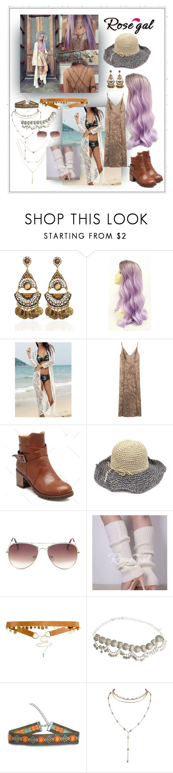 """""""cami dress pastel purple hair"""" by caroline-buster-brown ❤ liked on Polyvore featuring ADA Collection and St. Eve"""