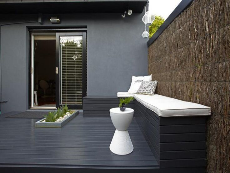 charcoal decking  love this (via http://www.desiretoinspire.net)