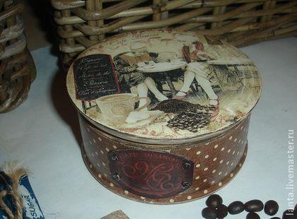 """Бонбоньерка - шкатулка """"Coffe & Chocolate"""" - коричневый,подарок,подарок на день рождения"""