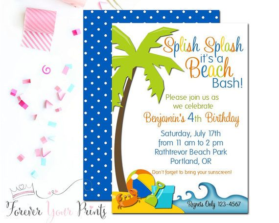 17 best ideas about Beach Party Invitations on Pinterest | Luau ...