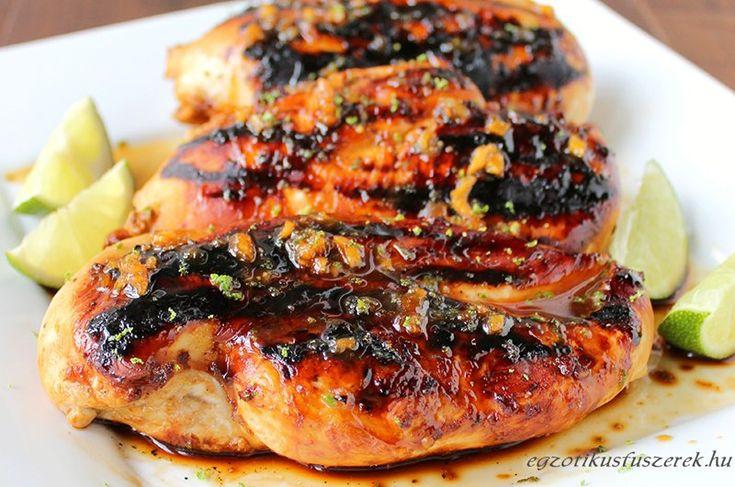 Szója-, Méz-, Fokhagyma Pácolt Csirke