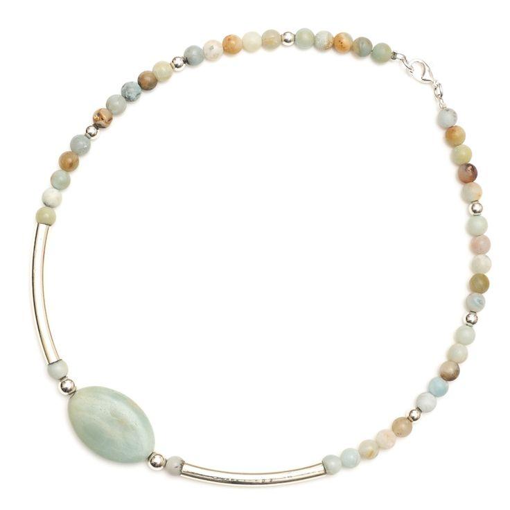 xada jewellery - Moss short tube and gemstone necklace, $37.95 (http://www.xadajewellery.com/shop-collection/moss-short-tube-gemstone-necklace/)