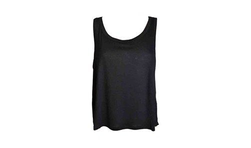 NIOI top black silk back