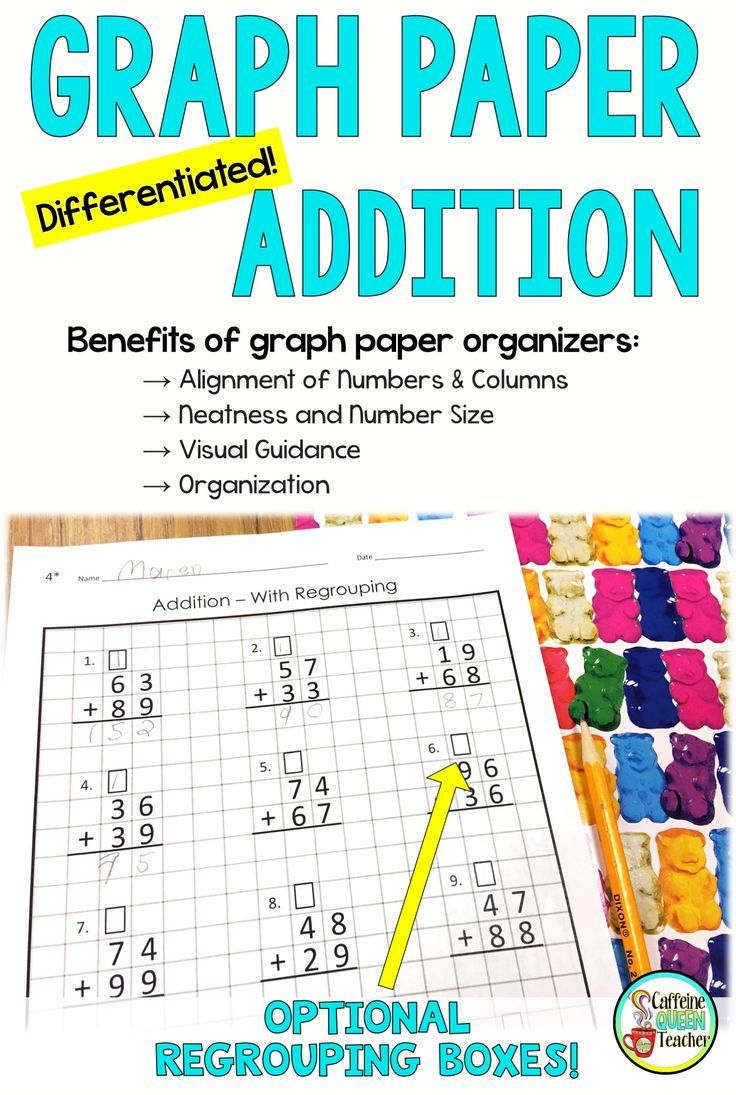 These Graph Paper Addition Worksheets Are Perfect For Students Learning 2 Digit Addi Special Education Students Struggling Students Special Education Classroom Properties of addition worksheet grade 4
