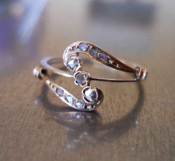 .: Cut Diamonds, Antiques Art, Nouveau Rose, Antiques Diamonds, Rose Cut, Art Nouveau Diamonds Rings, Vintage Rings, Antiques Rings, Vintage Style