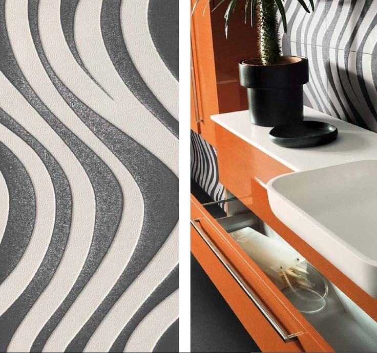 Pavimento/rivestimento tattile in gres porcellanato WAVE - CERDOMUS: Optical