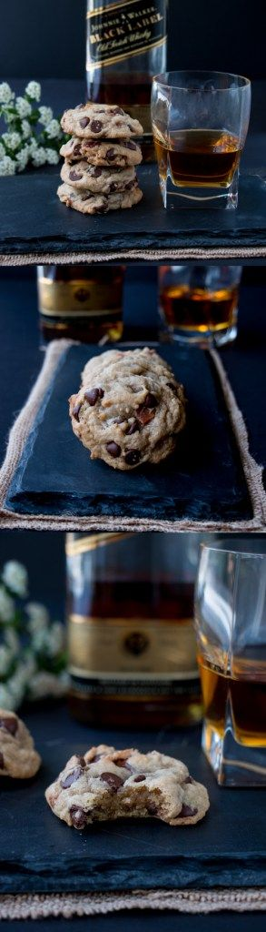 The addition of bacon and bourbon takes your everyday chocolate chip cookies from ordinary to extraordinary. These cookies have amazing flavor and are super chewy. Perfect for Father's Day
