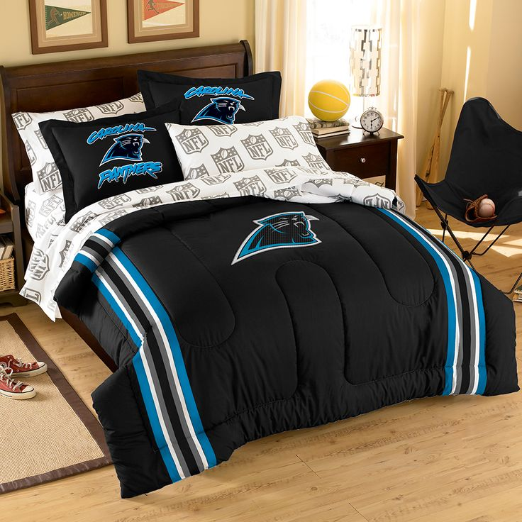 Where to buy Carolina Panthers Bedding? Purchase here: http://www.mysportsdecor.com/carolina-panthers-bedding.html  #carolinapanthers #panthersbedding #panthers #nflbedding