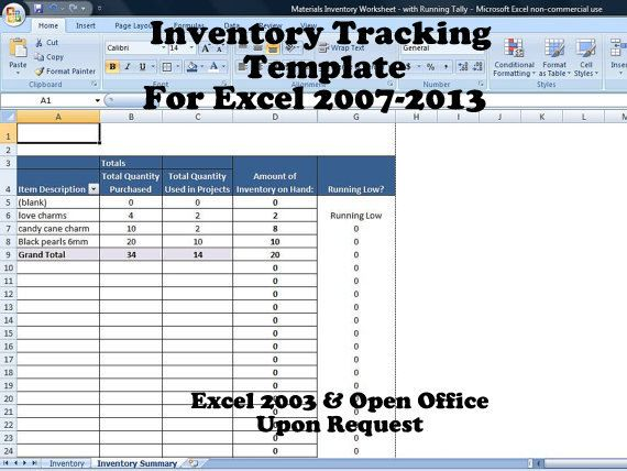 Inventory Tracker Excel, Inventory System for Small ...