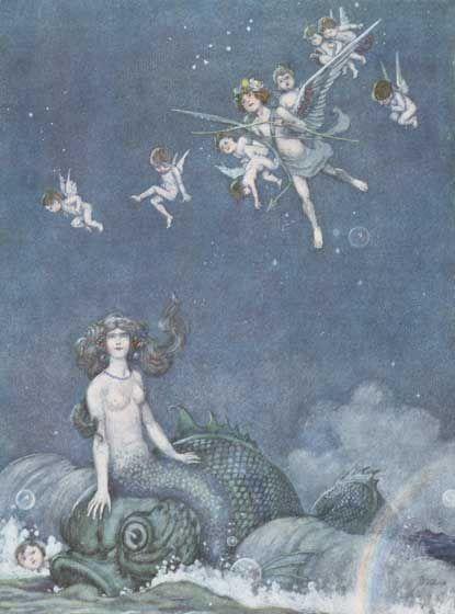 And Heard a Mermaid Upon a Dolphin's Back - A Midsummer Night's Dream, W. Heath Robinson