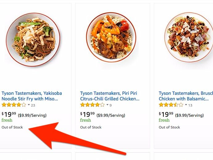 Amazon's Blue Apron knock-off is live — and it's already selling out (AMZN) - Amazon is now selling meal kits that would look familiar to Blue Apron customers — and they're already selling out.  On Tuesday, Amazon began selling kitsthat contain all the ingredients necessary to cook a selection of meals, includingoptions such as stir fry, burgers, and tacos. Meals — which contain enough ingredients to prepare meals for two tofour people— cost between $19.99 and $38.  By 9 am ET on…
