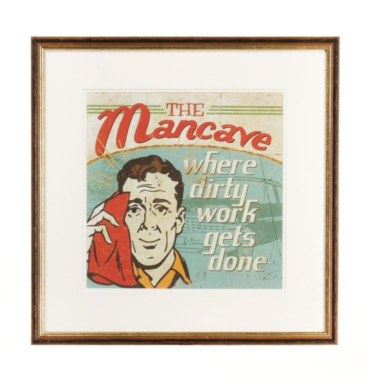 The Mancave Framed Print - 46 x 46