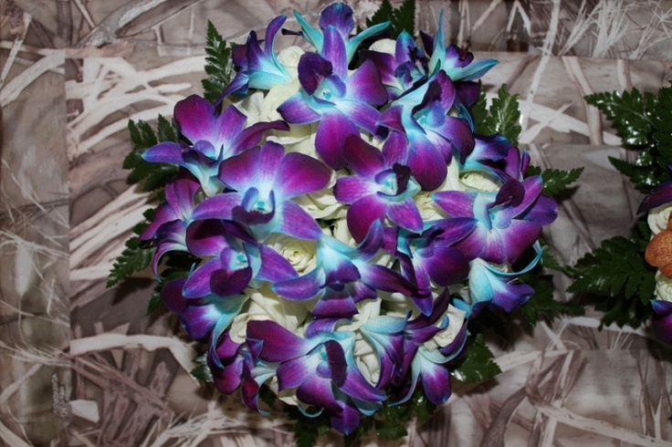 Blue galaxy orchid bouquet by prestige flowers on the