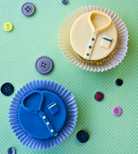 shirt cupcakes step by step