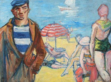 A bikinis hölgyek elárulták magukat. Amikor Vaszary festhette a képet, még nem hordtak a hölgyek bikinit nyílvánosan.