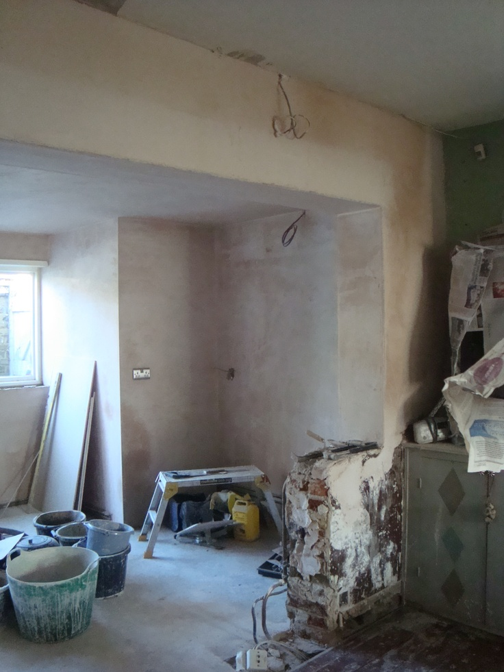 Wall widening in kitchen