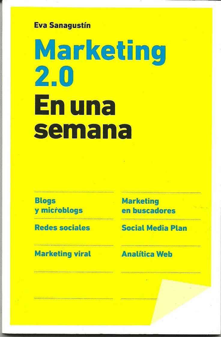 Libro Marketing 2.0-  Eva Sanagustín - Grupo Planeta  http://www.librosyeditores.com/tiendalemoine/3358-marketing-20-9788498750591.html  Editores y distribuidores