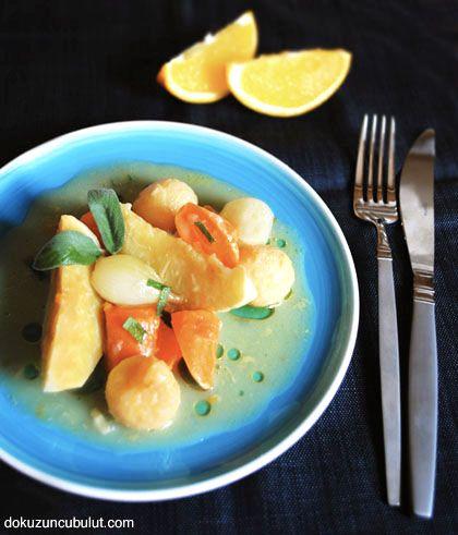 ayvalı portakallı  zeytinyağlı kereviz
