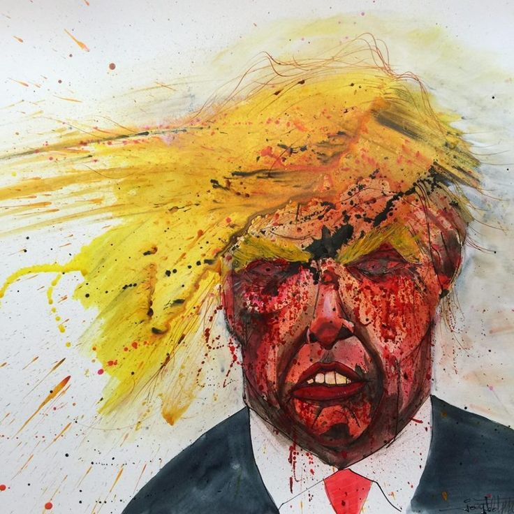 Donald Trump, (Ralph Steadman)