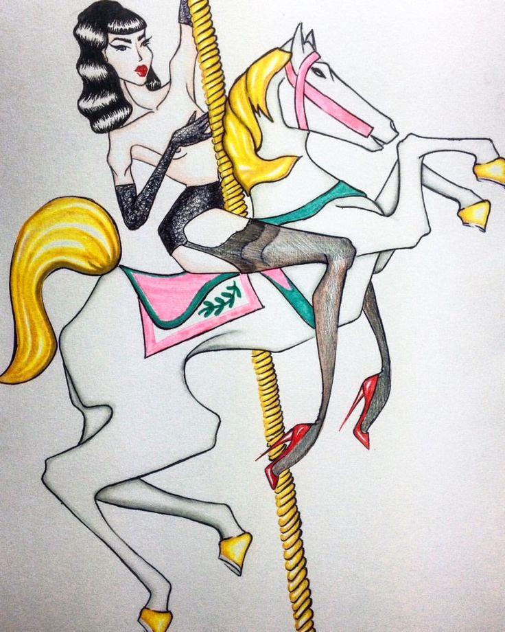 #draw #fashion #fashionillustrascion #illustration #illustrationart #burlesque #burlesqueillustration #pinup #pinupdraw #pinupgirl #pinupstyle #ditavonteese #vonteese #iger #potd #follow