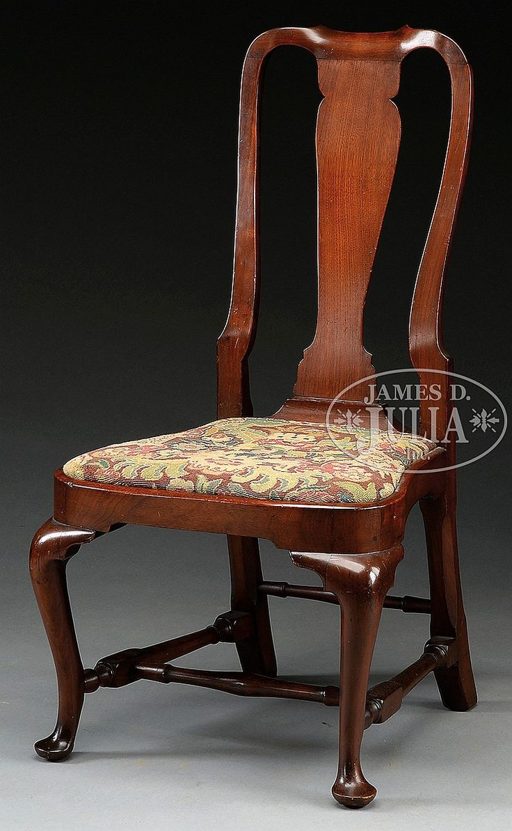 Chair antique queen anne chair the buzz on antiques antique chairs 101 - Circa 1740 1770 Boston Or Newport Statuesque Example With Vasi Form Splat Yoke Crest And Crooked Stiles Compass Seat And Block And Turned Side
