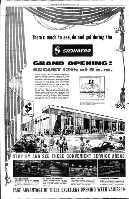 Steinberg Fairview Pointe-Claire, Août 1965 by GrocerymaniaSam, via Flickr