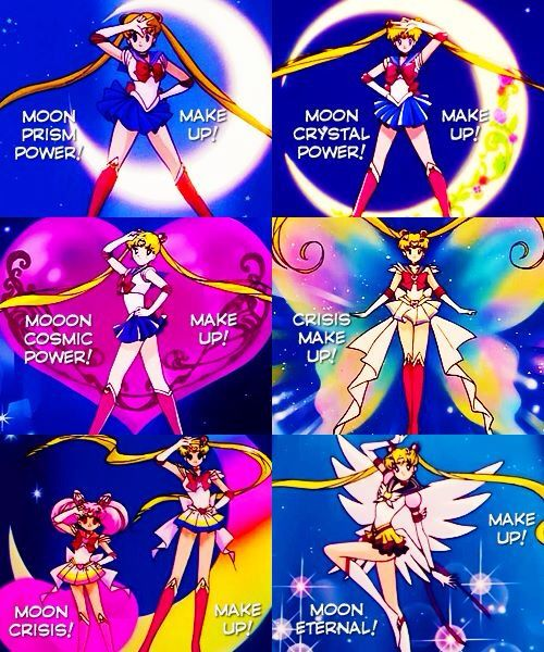 Sailor moon transformations