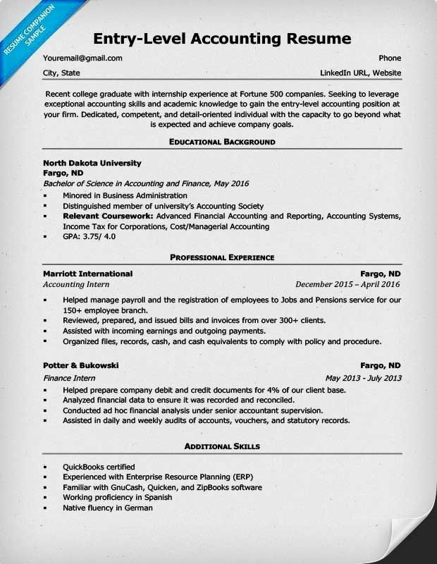 Great Accounting Resume Template Picture Entry Level Accounting