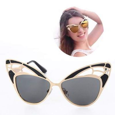 Cat Eye Shape Hollow Out Design Black. Simple and must have it! REPIN if you love it.😍 Only 199 IDR