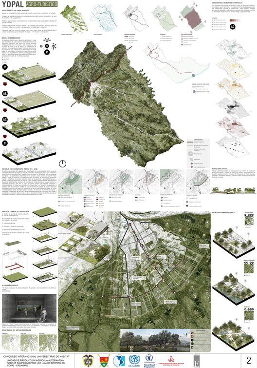 Primer Lugar en concurso internacional universitario de hábitat CONVIVE VIII / Colombia,Lámina 02. Image Courtesy of Equipo Primer Lugar