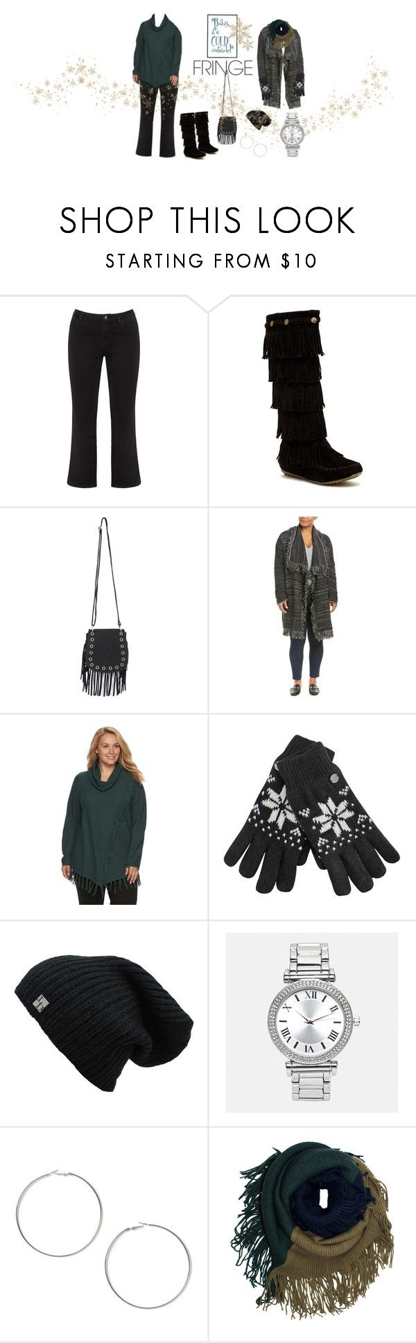 """""""Shimmy! Shimmy! Fringe..."""" by lynnieluwho ❤ liked on Polyvore featuring JunaRose, Shoes of Soul S.O.S., Pilot, NYDJ, Croft & Barrow, Avenue, Miss Selfridge and plus size clothing"""