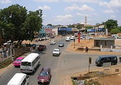 Lilongwe, (named after the Lilongwe River) is the capital and largest city of Malawi. The city is located in the central region of Malawi, near the borders with Mozambique and Zambia. The city has an estimated population 781,538 as of 2012.