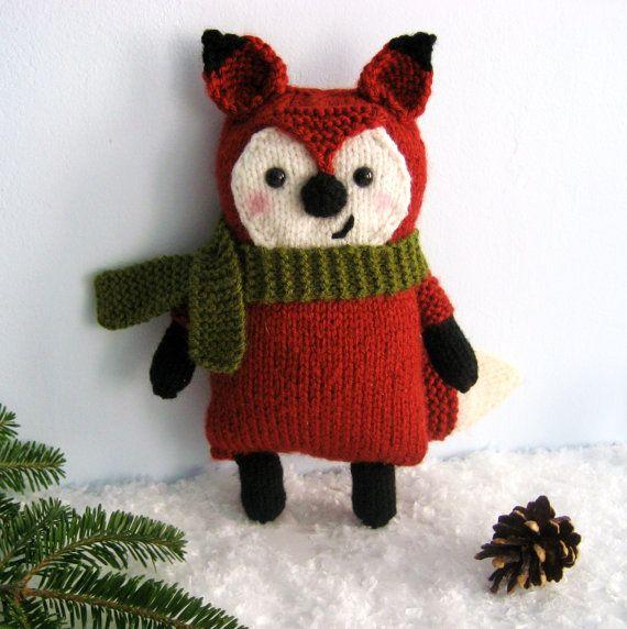 Amigurumi Knits Download : Amigurumi Knit Little Fox Pattern Digital Download ...