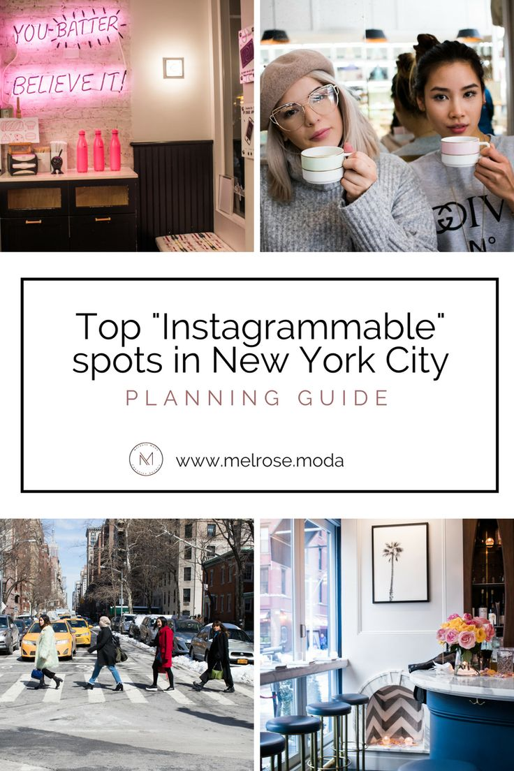 Top Instagrammable spots in New York City | Travel blog | Packing for NYC | Traveling NYC | Traveling to another city | New York City | Soho | Manhattan | Travel planning guide | Coffee shops New York City | Restaurants NYC http://www.melrose.moda/blog/nyc