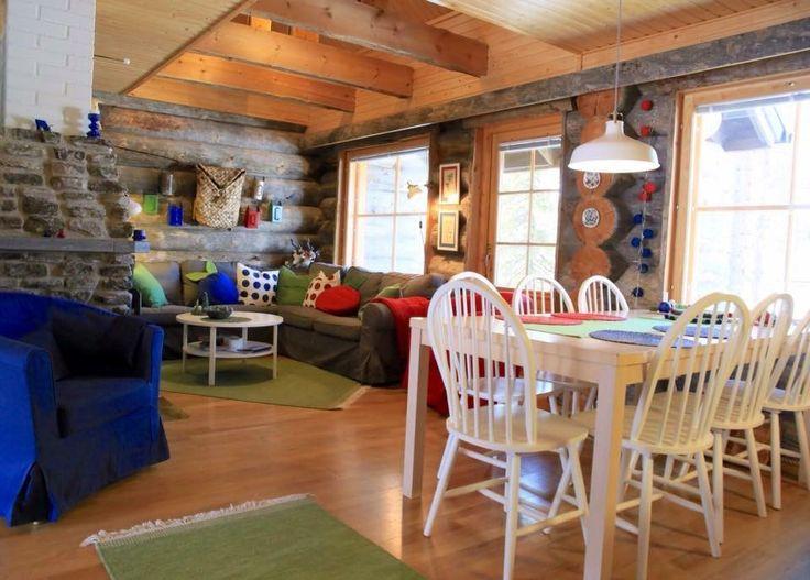 Log cabin interior. www.theberrystay.com