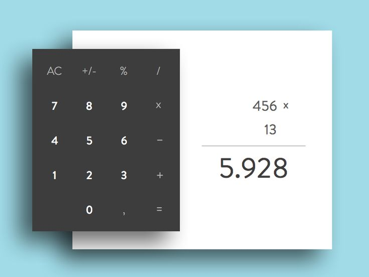 Calculator - DailyUI #004