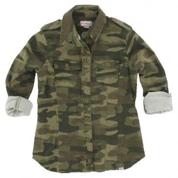 Cars - Blouse Warrior camouflage groen