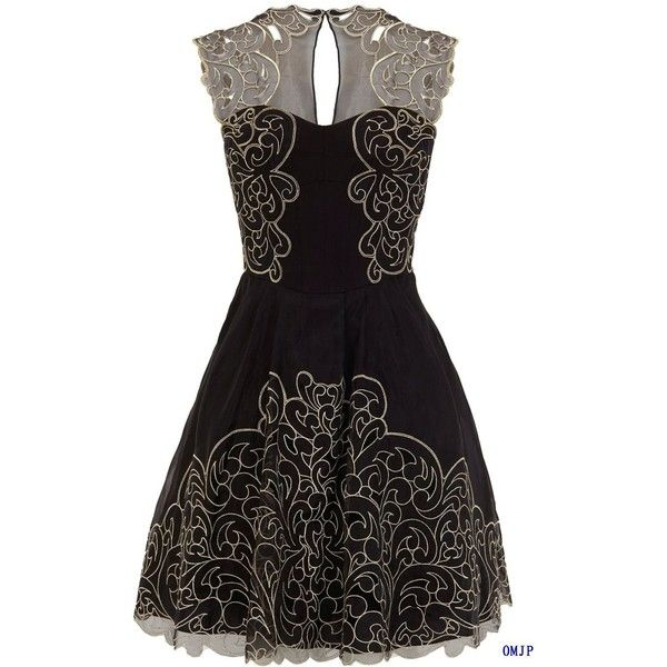 Embroidery dress Baroque cutwork lace tutu dress 2012