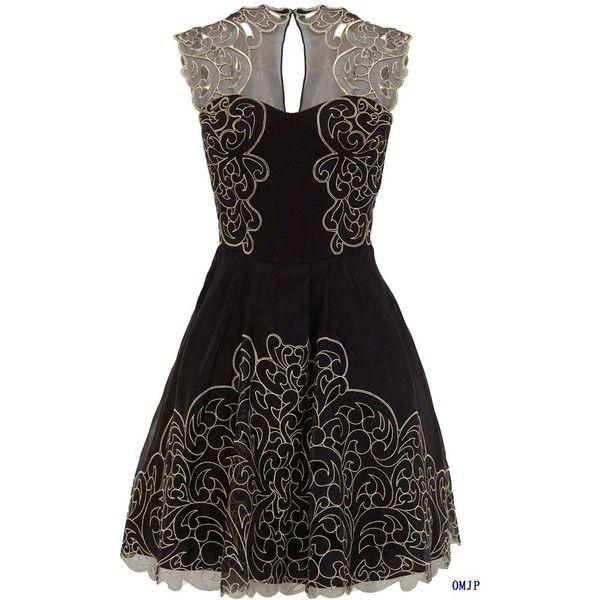 Embroidery dress Baroque cutwork lace tutu dress 2012