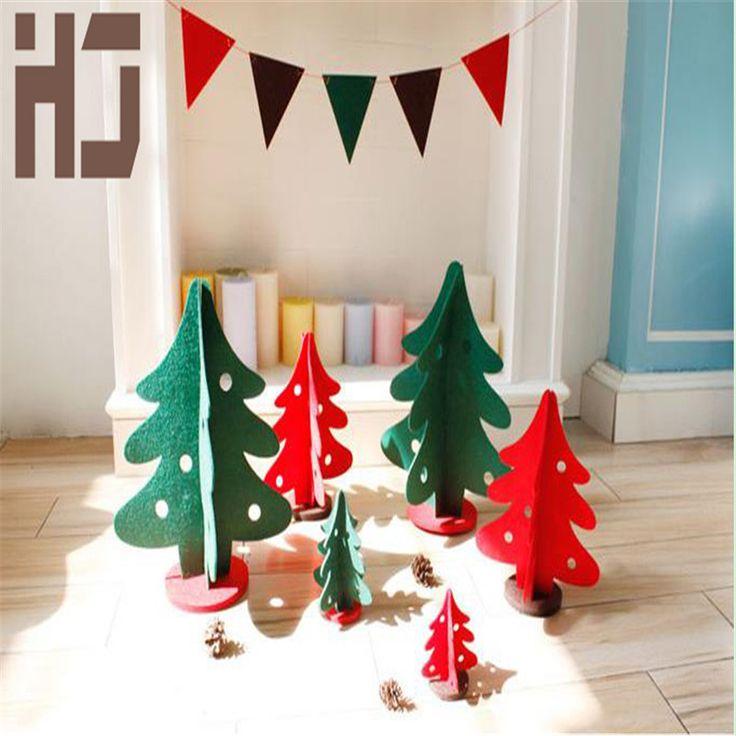 Рождественская елка украшения мини искусственное дерево DIY чувствовал ткани для рождественские украшения для дома b016 купить на AliExpress