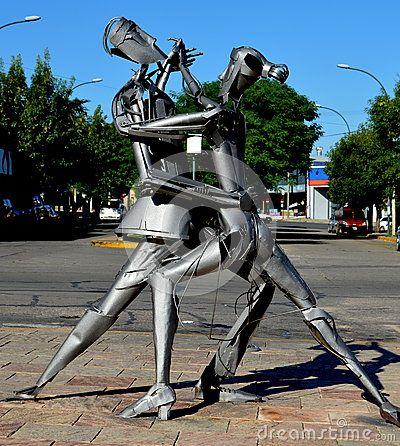 Statue of tango dancers in La Falda, Córdoba, Argentina