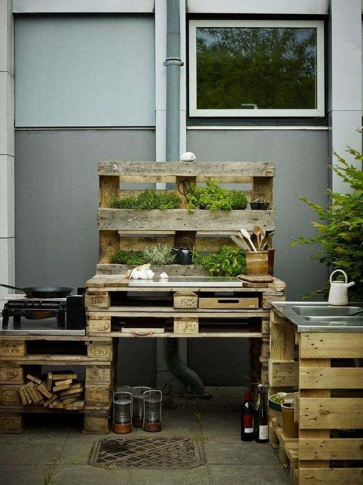 les 25 meilleures id es concernant cuisine d t ext rieure sur pinterest cuisine ete. Black Bedroom Furniture Sets. Home Design Ideas